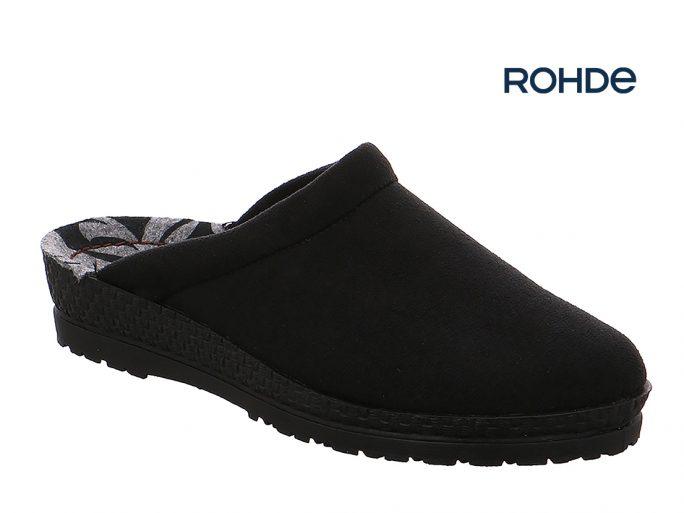 Rohde 2291-90 pantoffels zwart