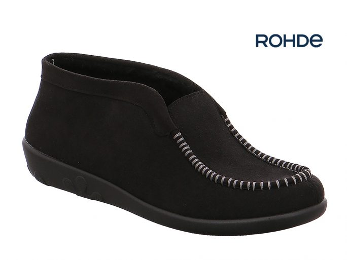 Rohde 2236-90 zwart pantoffel