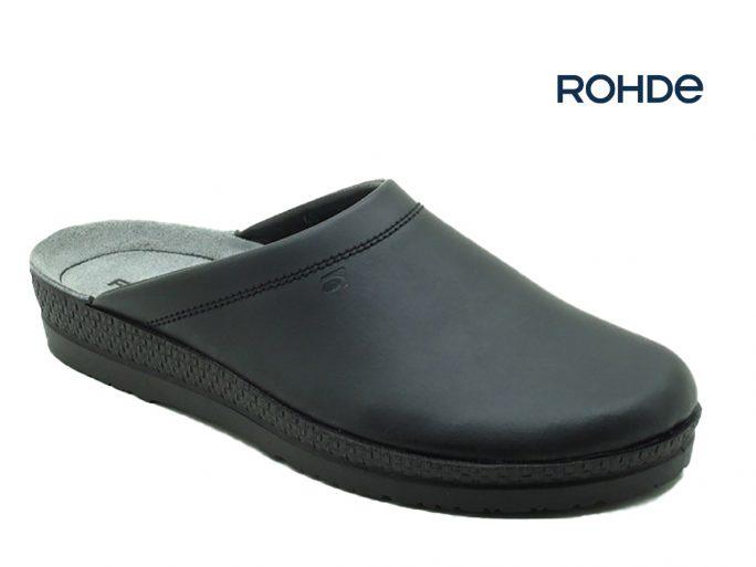 Rohde 1515-90 herenslipper zwart