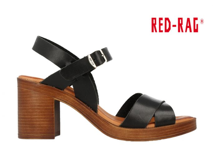 Red-Rag 79174-922 sandaal zwart