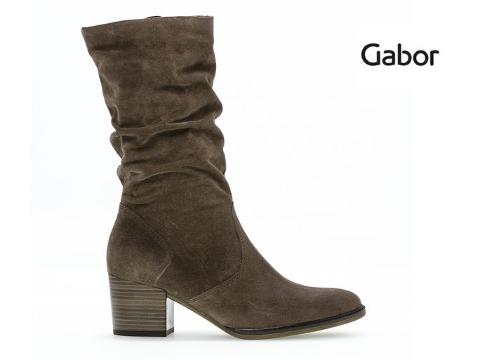Gabor 52.894 suede laars taupe