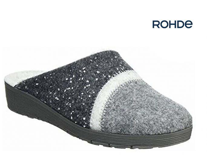 Rohde 2326-80 grijs damespantoffel