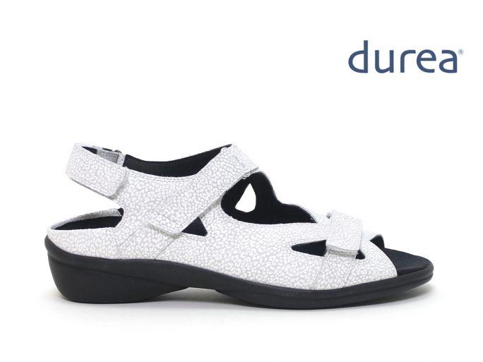 Durea 7258 sandalen wit H wijdte