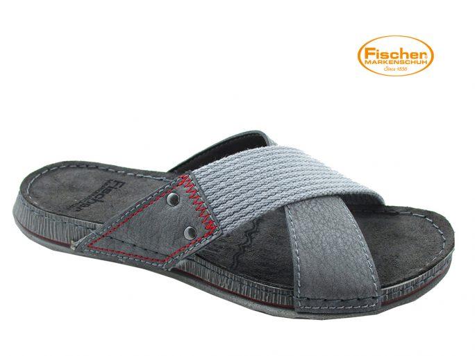 Fischer 0801 slipper grijs