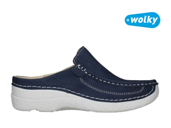 Wolky 6202 Roll slide slipper blauw