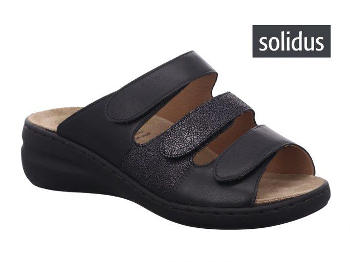 Solidus 21154 zwart damesslipper