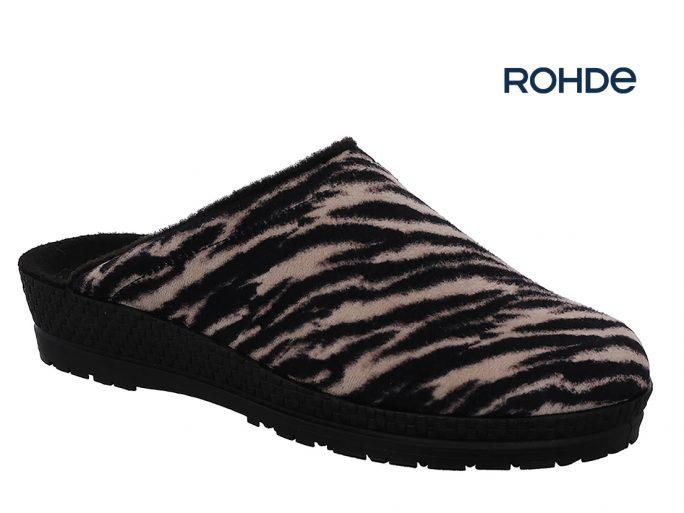 Rohde 2294-17 pantoffels zebraprint