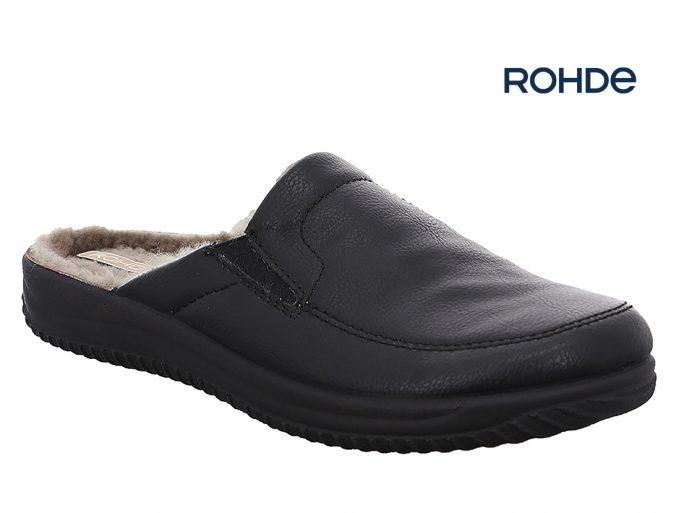 Rohde 2777 herenpantoffels zwart leer