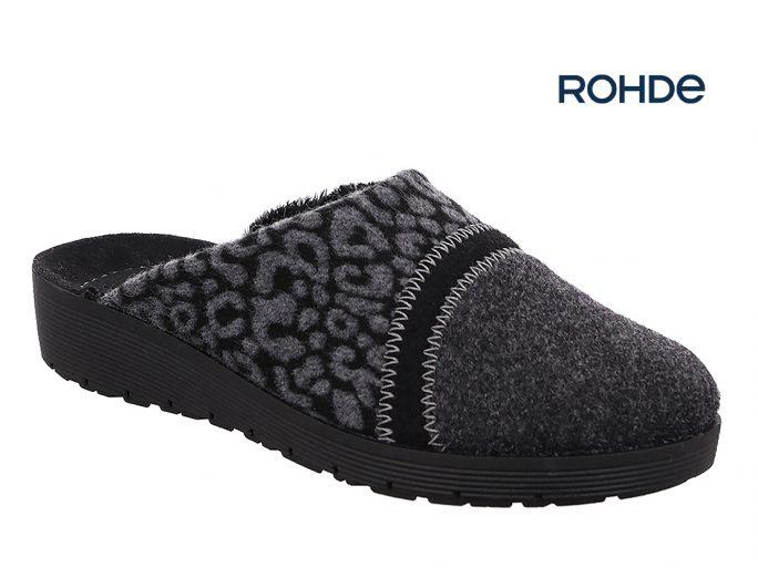 Rohde 2326-82 anthracite damespantoffel