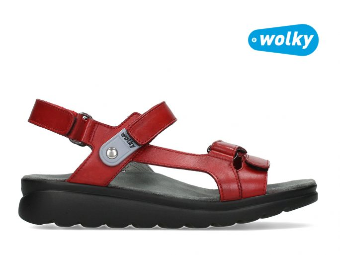 Wolky 1525 Mile sandaal rood